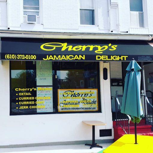 Cherry's Jamacian Delight Restaurant Signage